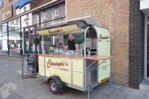 Christophe's Crepe van in Norwich