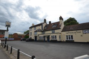 The Worlds End pub in Mulbarton