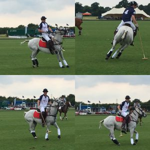 Prince William playing at The Royal Norfolk Polo Festival on his favourite horse
