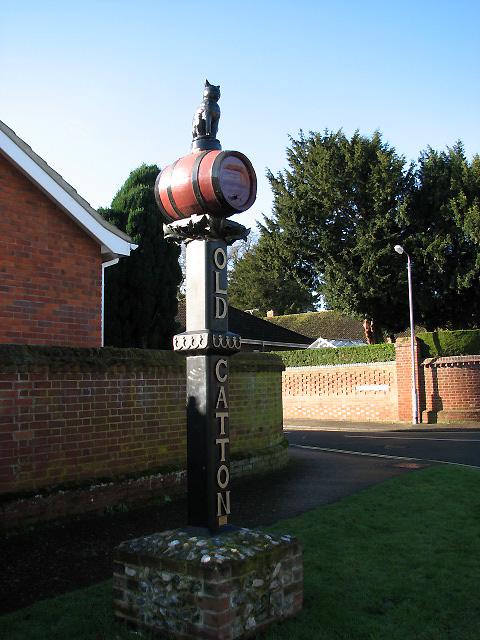 Old Catton village sign