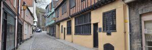 Tudor Houses on Elm Hill in Norwich