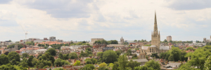 View over Norwich city centre