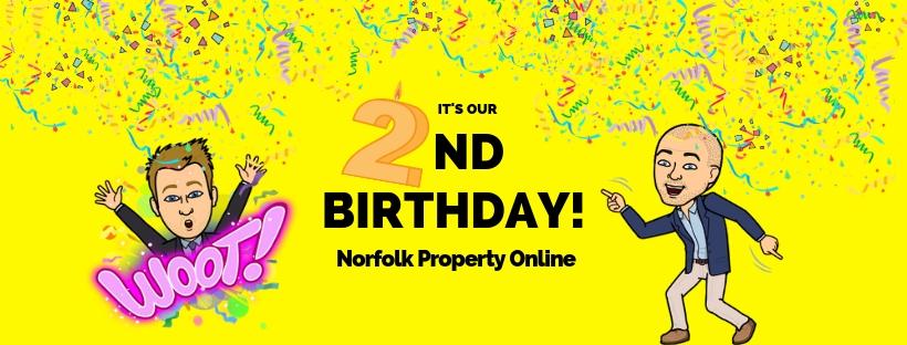Norfolk Property online Birthday banner